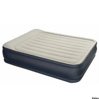 Кровать Deluxe Pillow Rest Raized 157*203*48см флок, сумка 67736 INTEX