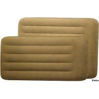 Кровать Pillow Rest Mid-Rise 102*203*38см флок, хаки 67740 INTEX